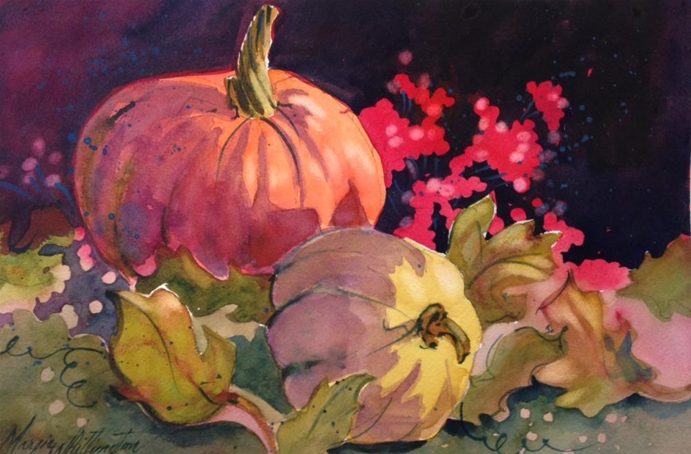 """Pumpkin 1"" original fine art by Margie Whittington"