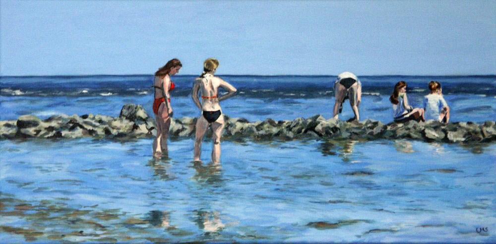 """5 Mermaids"" original fine art by Ulrike Miesen-Schuermann"