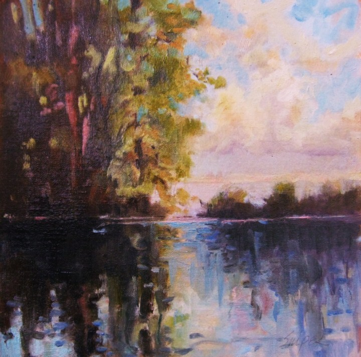 """""""Deep Water, Number 2"""" original fine art by Connie Snipes"""