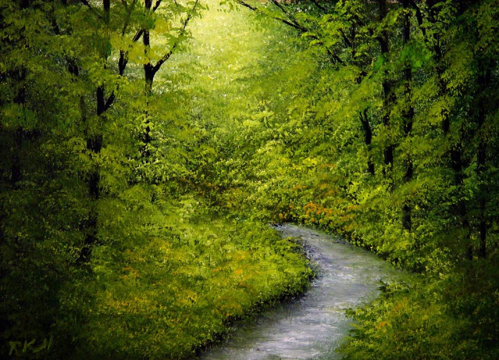 """""""Hidden River"""" original fine art by Bob Kimball"""