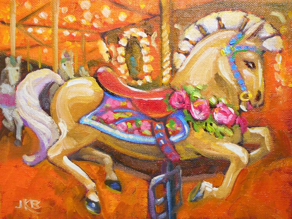 """Roman Roses"" original fine art by Jeanne Bruneau"