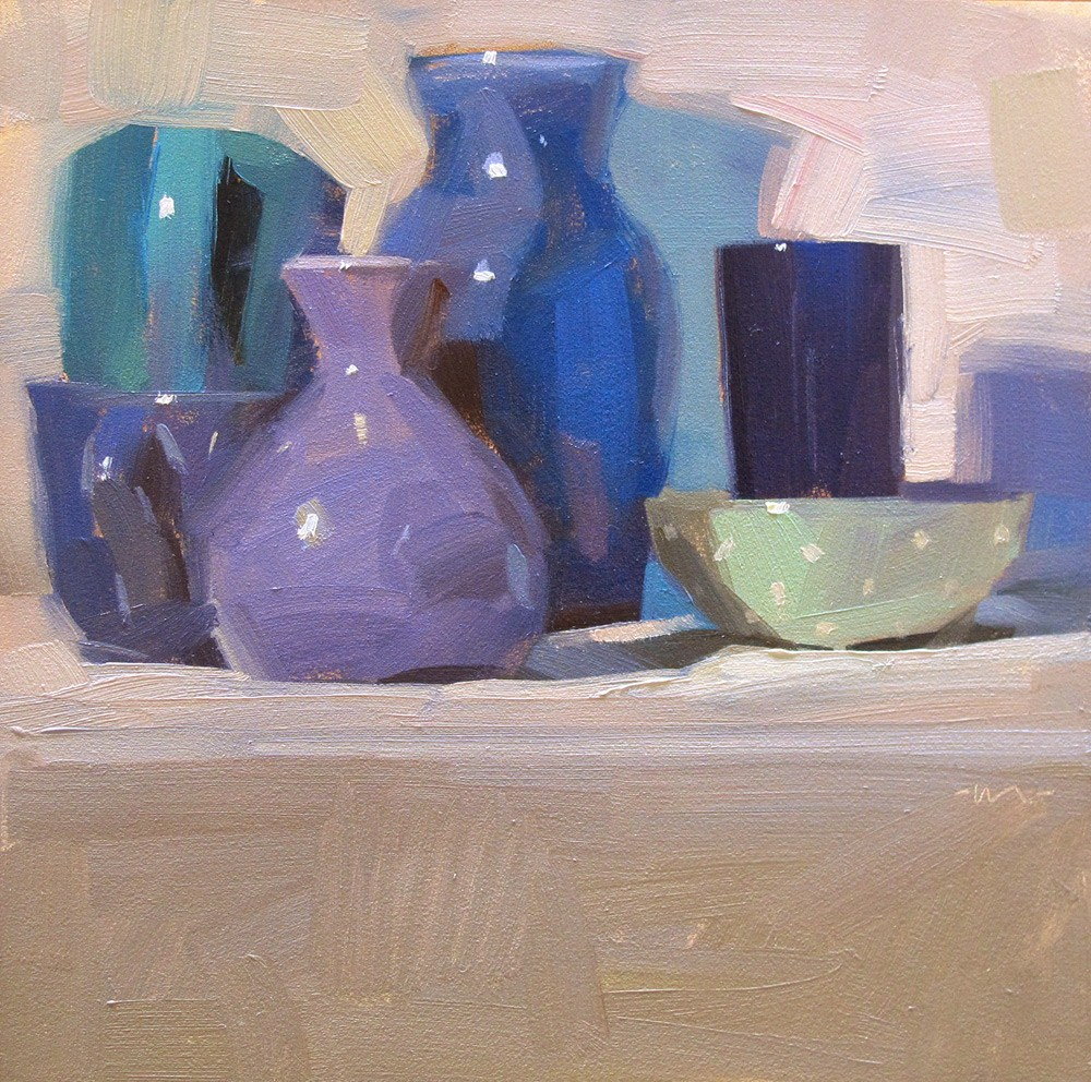 """For the Love of Blue"" original fine art by Carol Marine"
