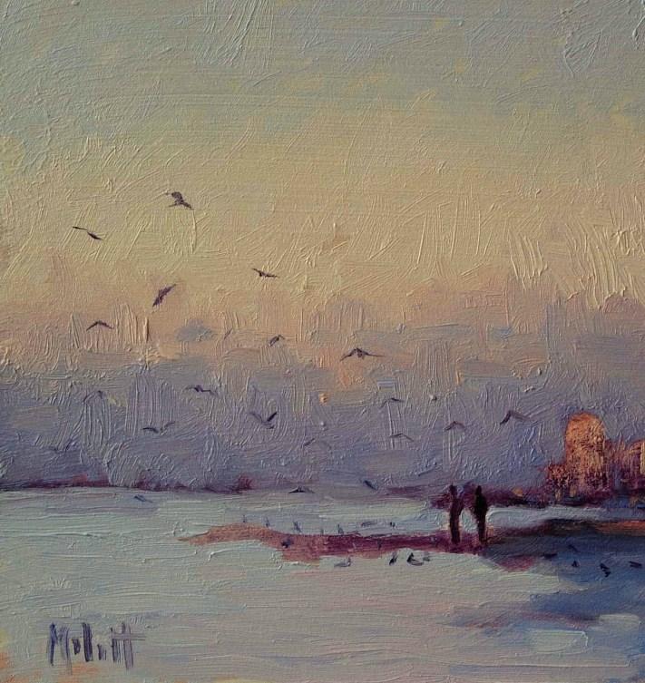 """Beach Gallery Sale Paintings from 2006-2009 $85"" original fine art by Heidi Malott"
