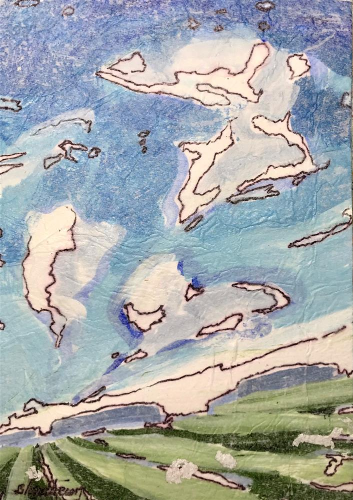 """Radial Clouds"" original fine art by Linda Blondheim"