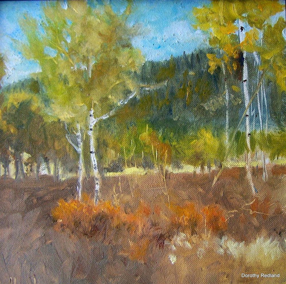 """Below the Cabin"" original fine art by Dorothy Redland"