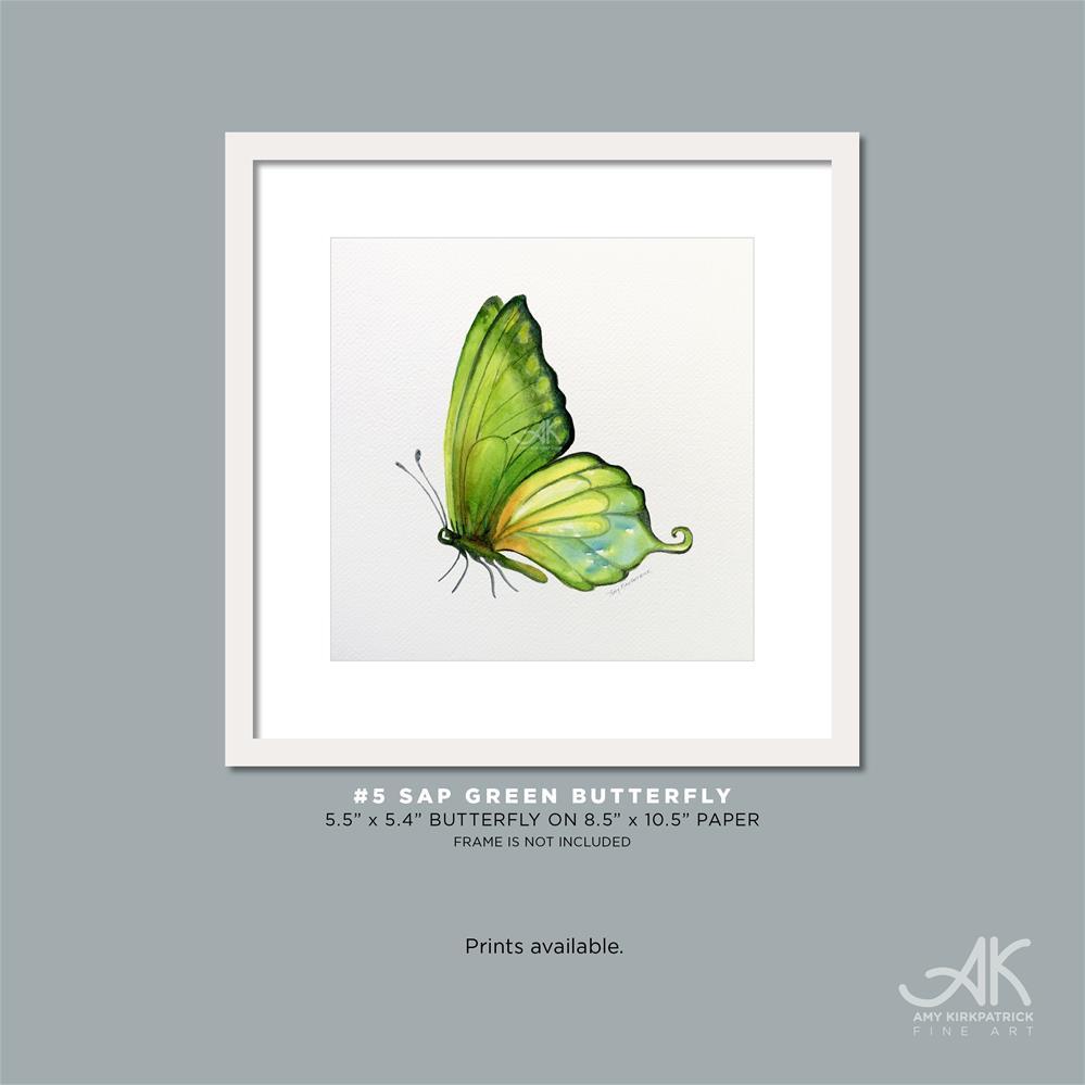 """""""#5 Sap Green Butterfly #0314"""" original fine art by Amy Kirkpatrick"""