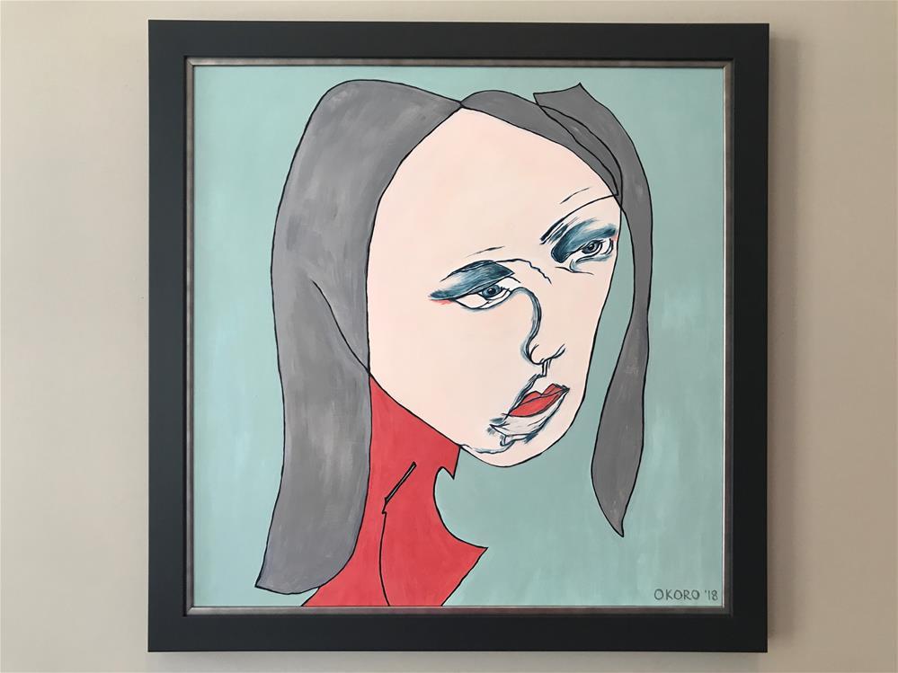 """Disturbing II"" original fine art by Cary Okoro"