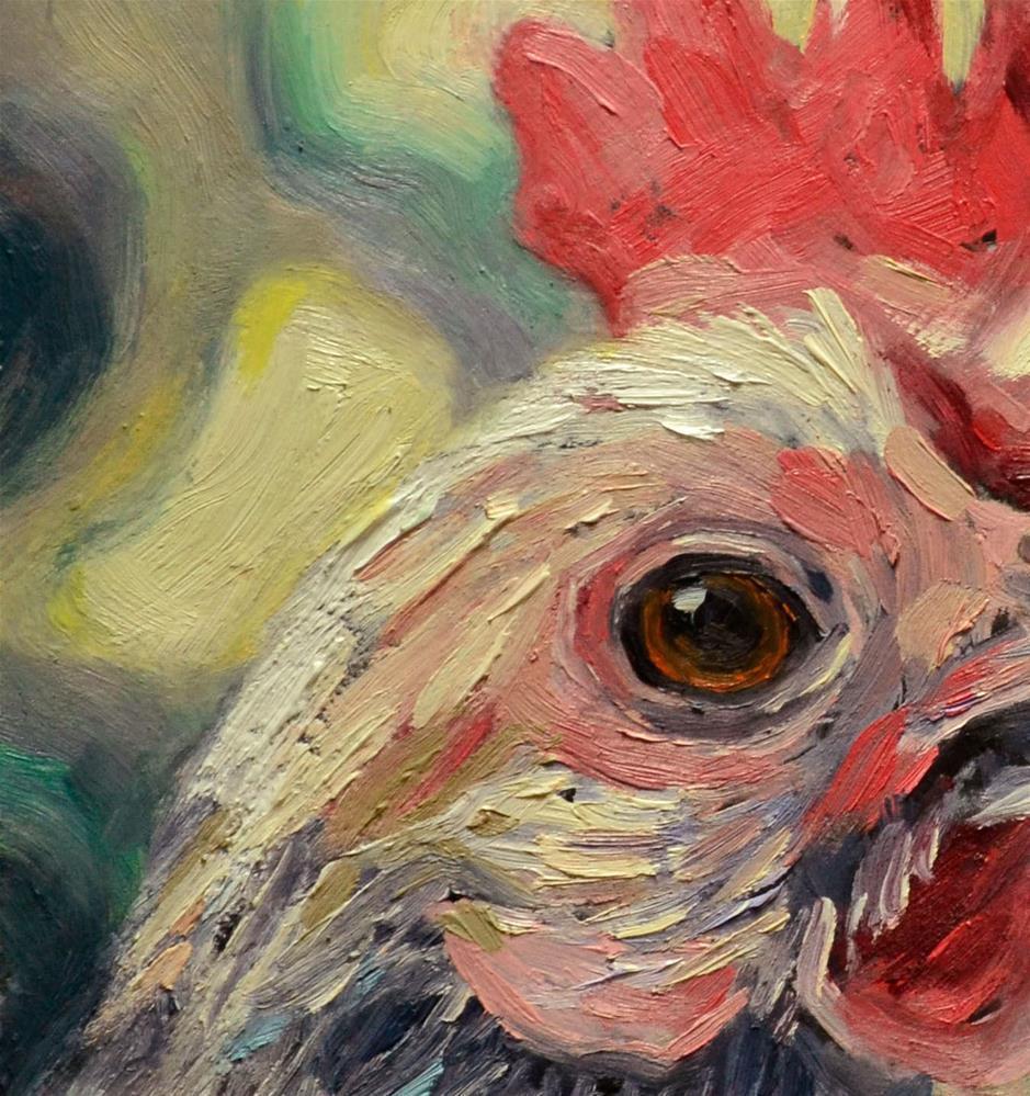 """Starry Starry Rooster"" original fine art by Karen Weber"