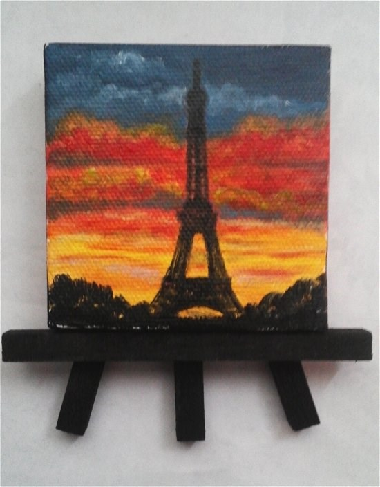 """Eifel Tower Paris"" original fine art by Camille Morgan"