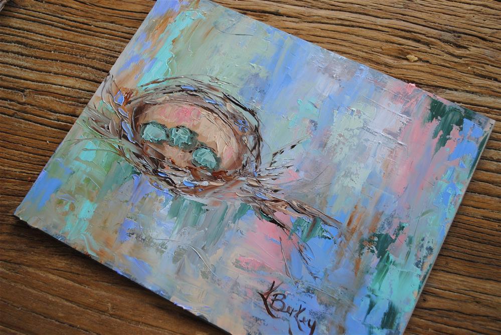 """Spring Nesting"" original fine art by Kelly Berkey"