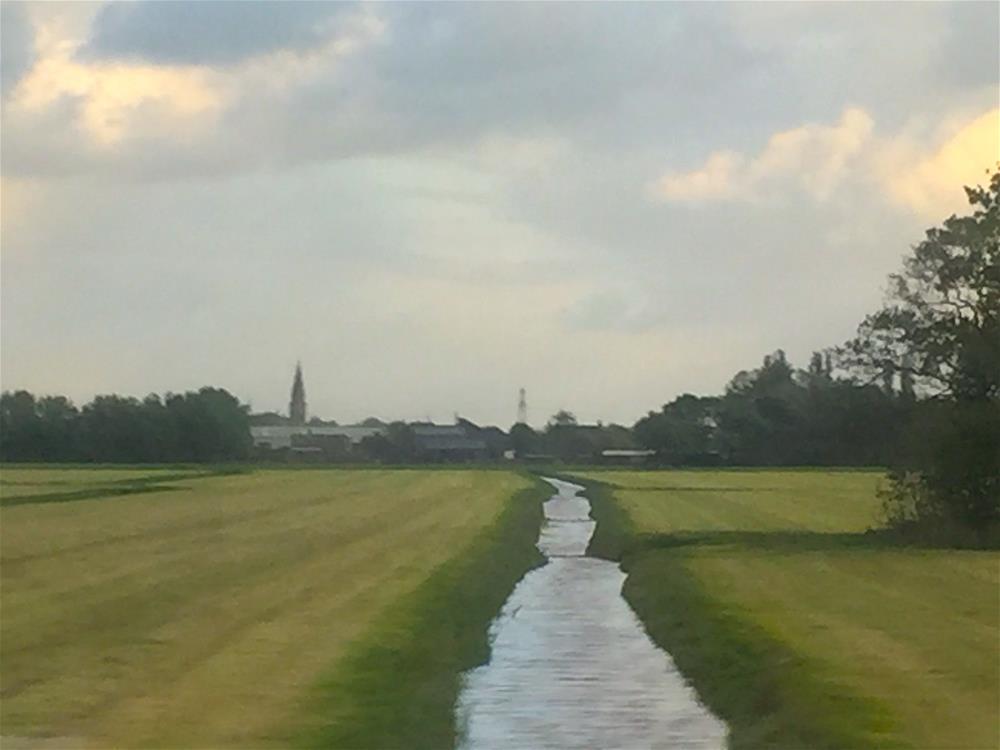"""Traveling towards Delft"" original fine art by Judith Freeman Clark"