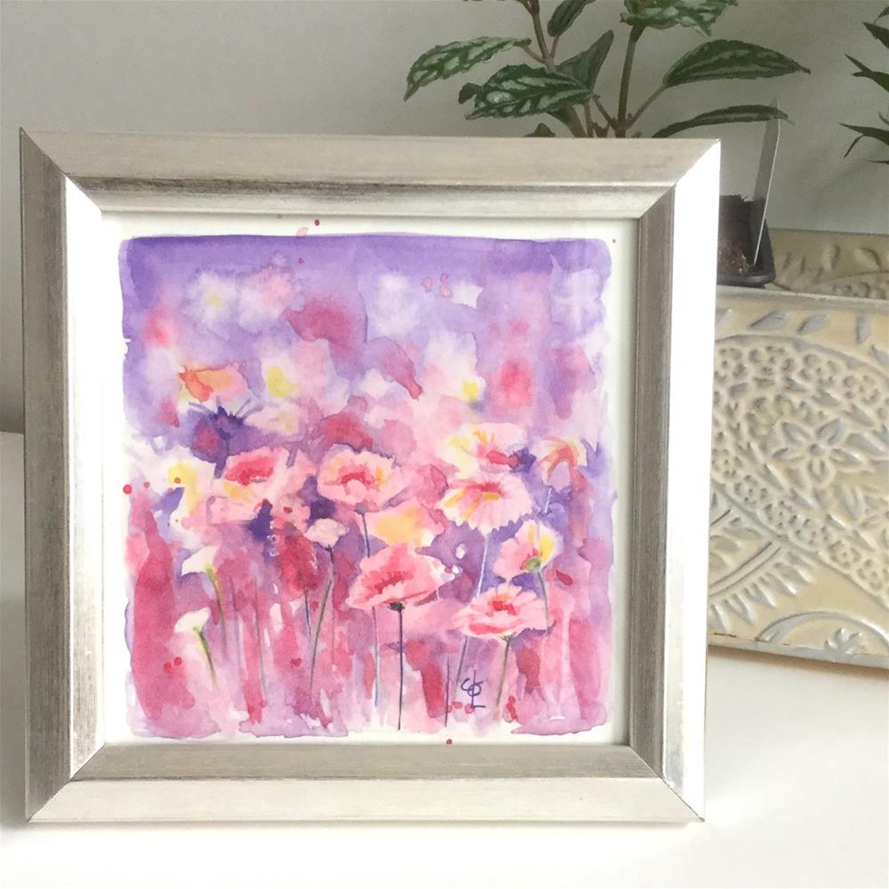 """Pink Poppy Passion"" original fine art by Christy Obalek"