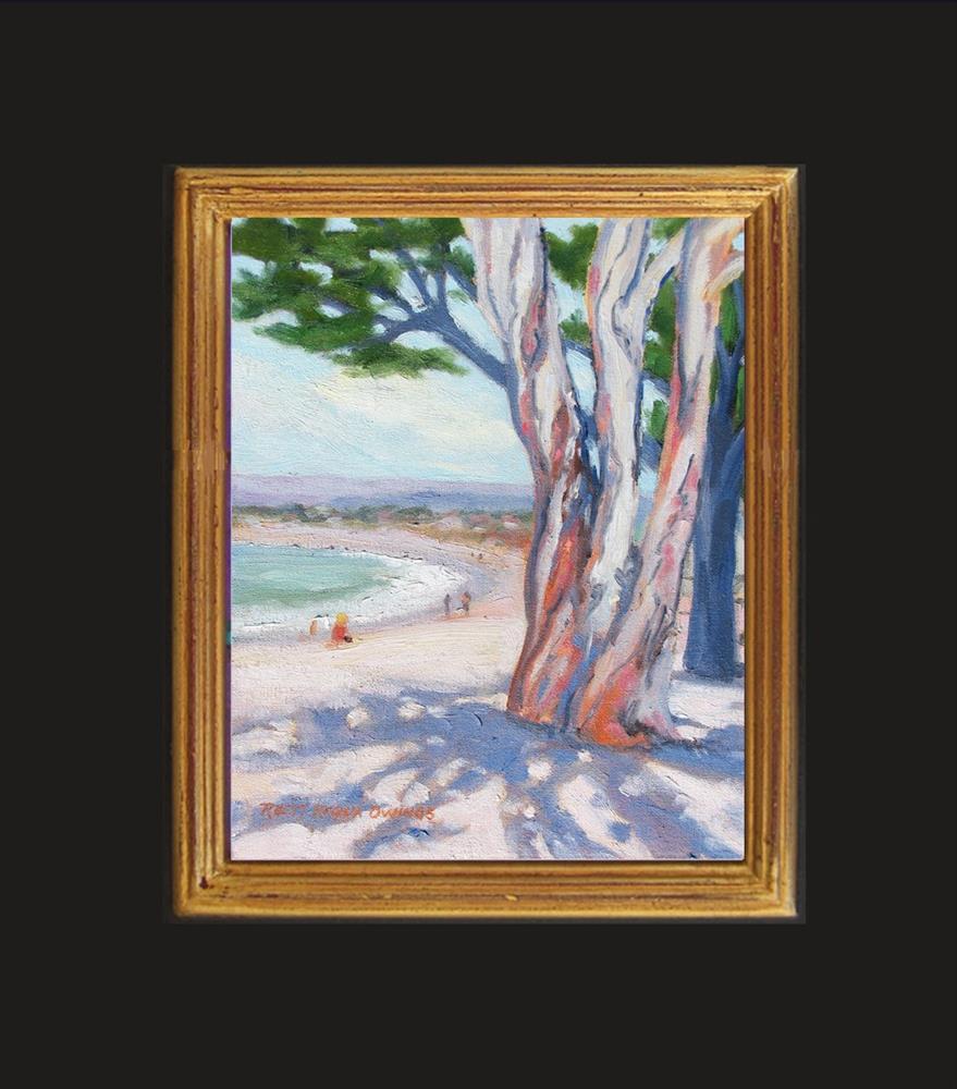 """Beach Shadows"" original fine art by Rhett Regina Owings"