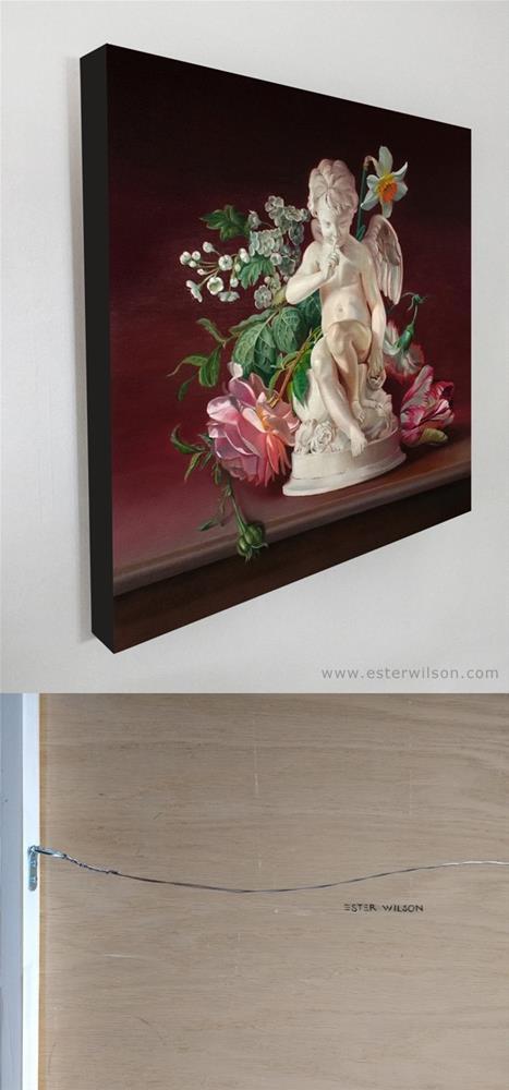 """""""Cupid's Garden"""" original fine art by Ester Wilson"""