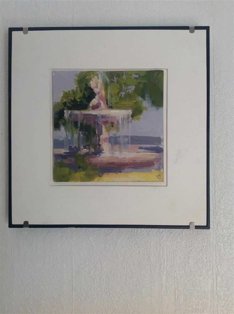 """Fresh water"" original fine art by Christine Bayle"