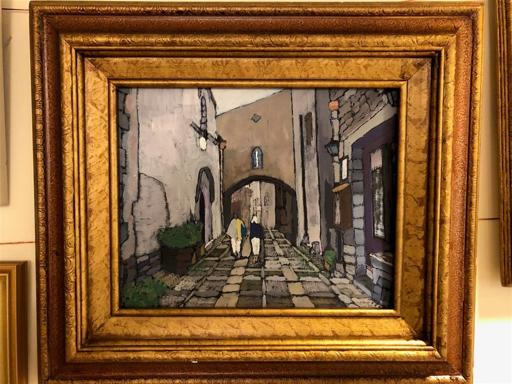 """""""Passeggiata in Erice"""" original fine art by Francesco Favazza"""