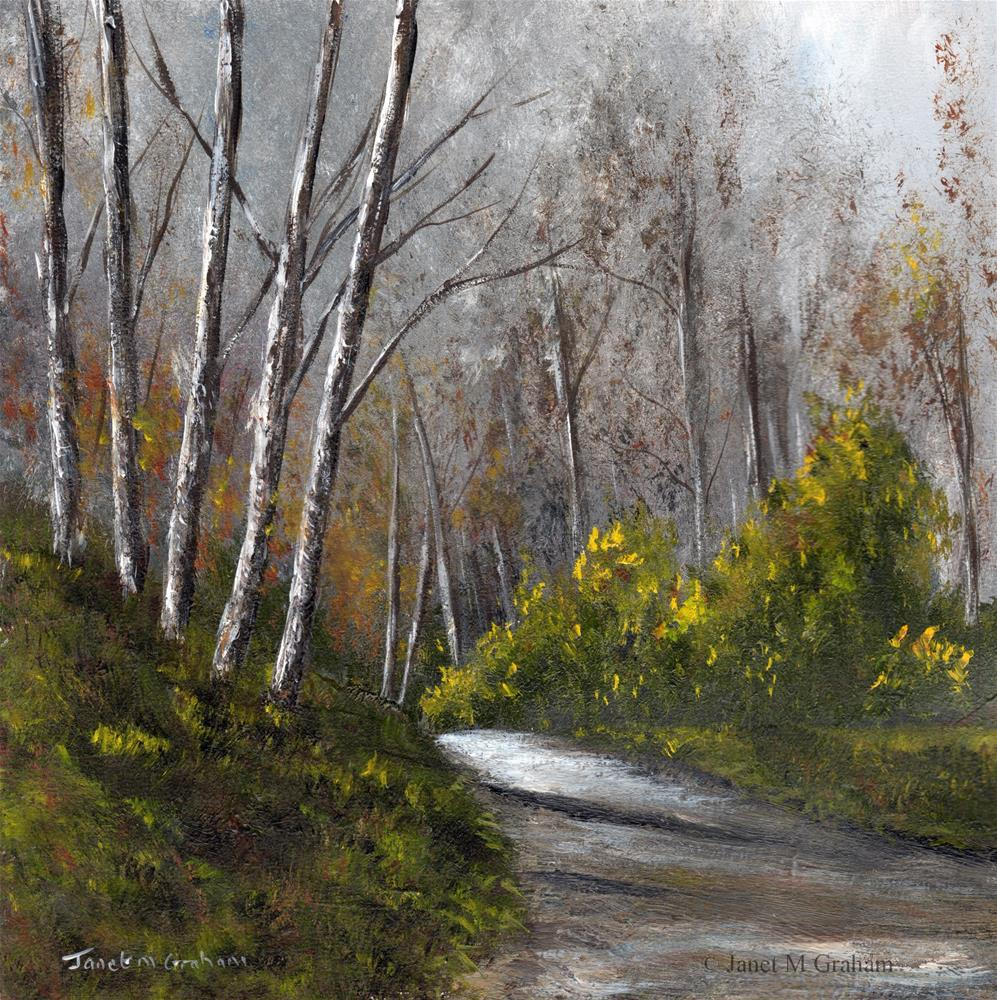 """Autumn Days 3"" original fine art by Janet Graham"