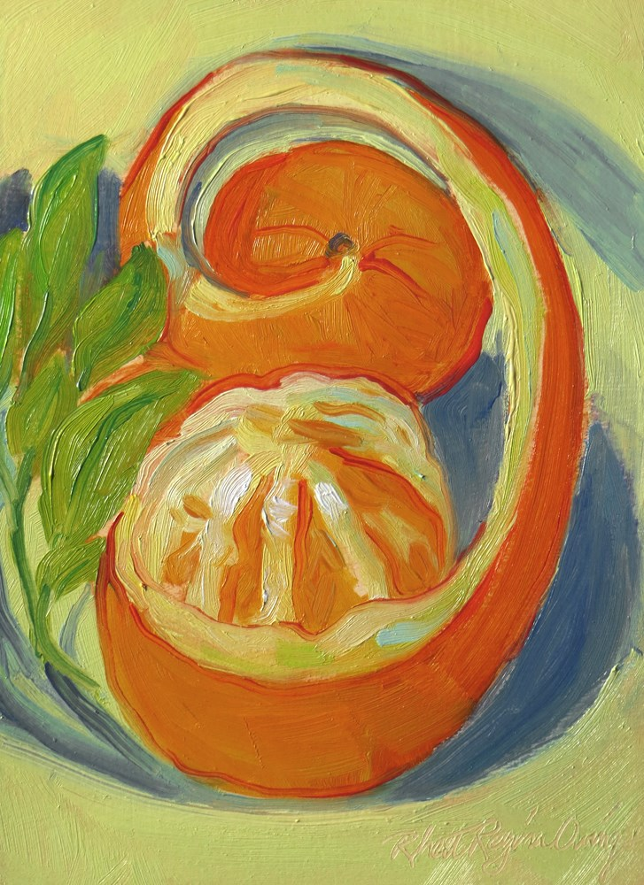 """Orange Swirl in a Mat"" original fine art by Rhett Regina Owings"