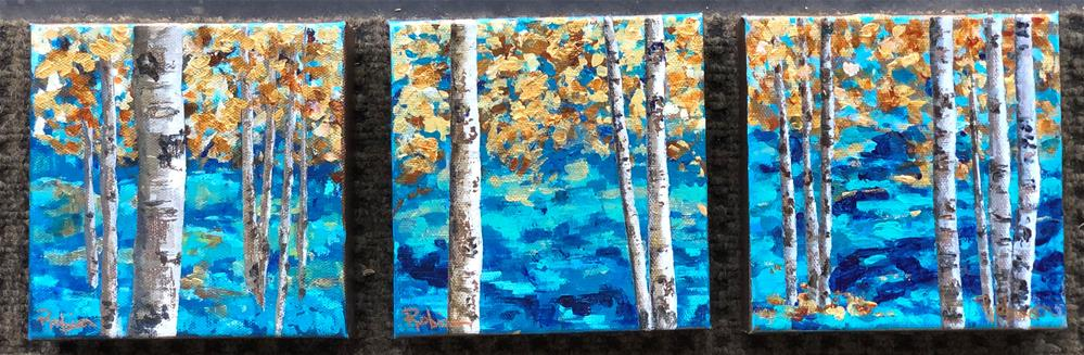 """Blue Forest #1"" original fine art by Renee Robison"