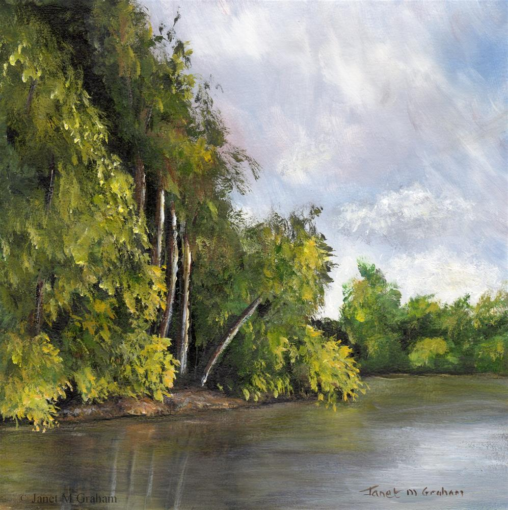 """Tranquil River"" original fine art by Janet Graham"