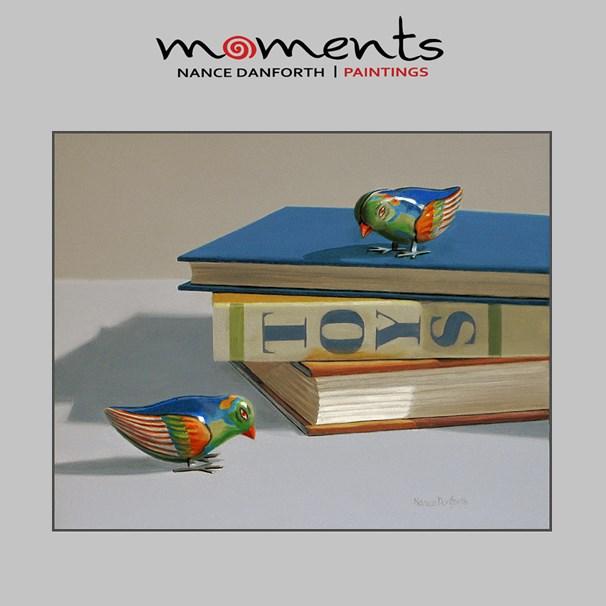 """Two Toy Birds"" original fine art by Nance Danforth"