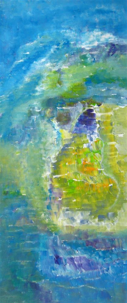 """Man On The Beach"" original fine art by Alina Frent"