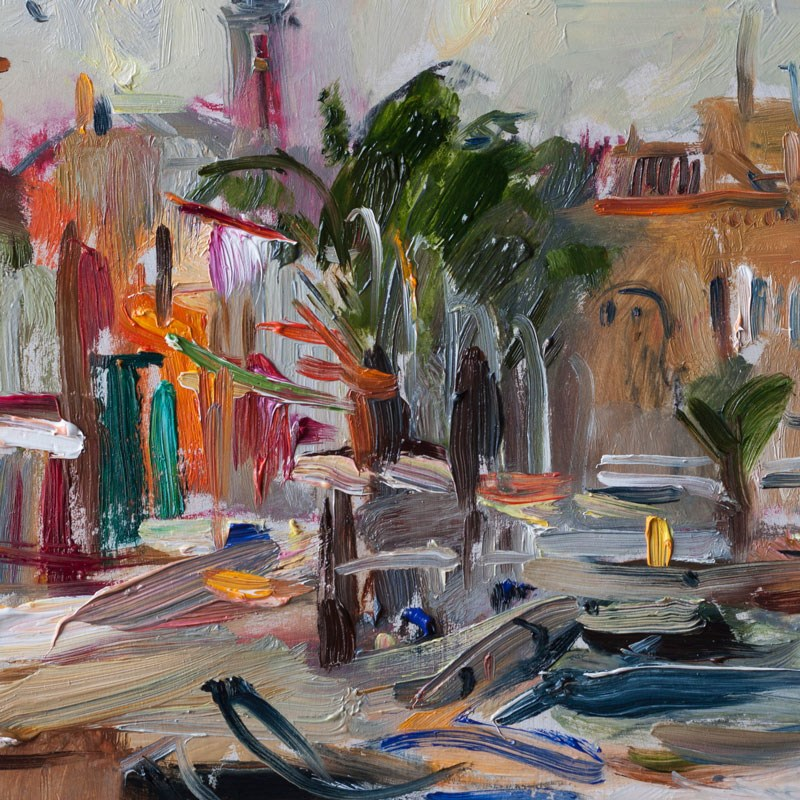 """Silver morning light in Cabo de Palos Marina"" original fine art by Anna Fine Art"