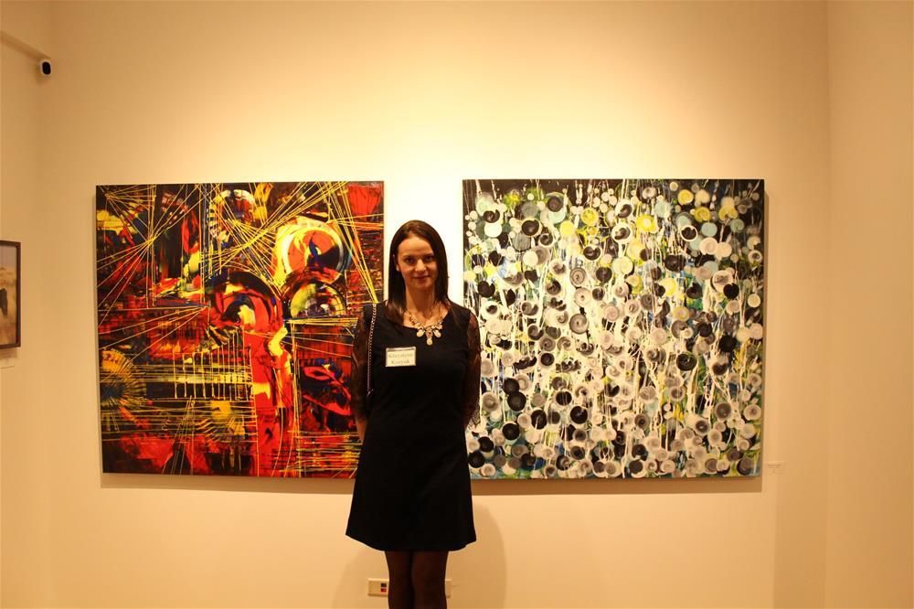 """Nights Blooms,original large painting on canvas "" original fine art by Khrystyna Kozyuk"