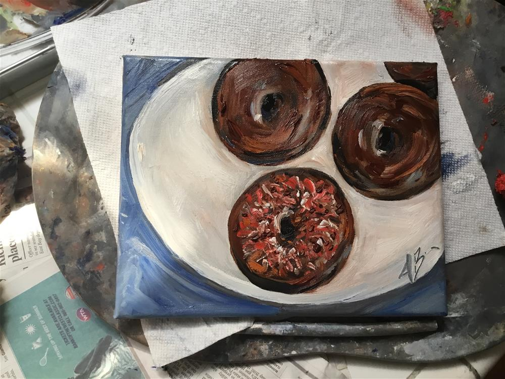 """Fresh made donuts"" original fine art by Annette Balesteri"