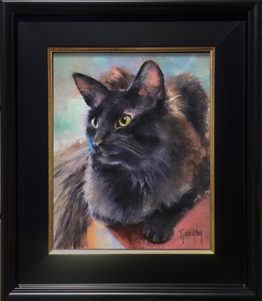 """Winston"" original fine art by Pamela Hamilton"