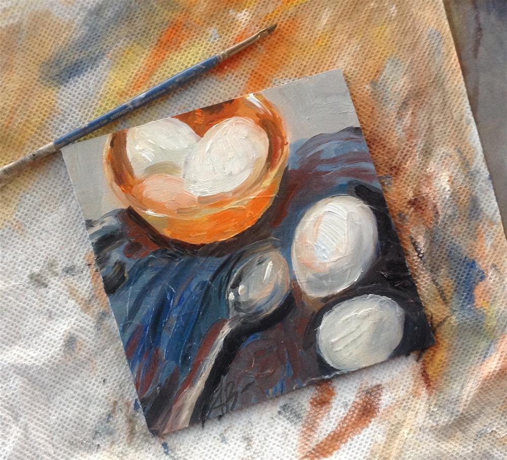 """Eggs unbroken "" original fine art by Annette Balesteri"