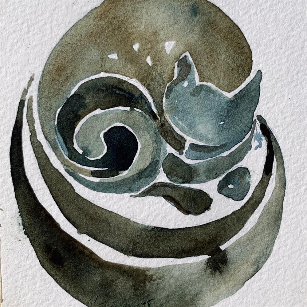 """Daily Cat 1"" original fine art by Jean Krueger"