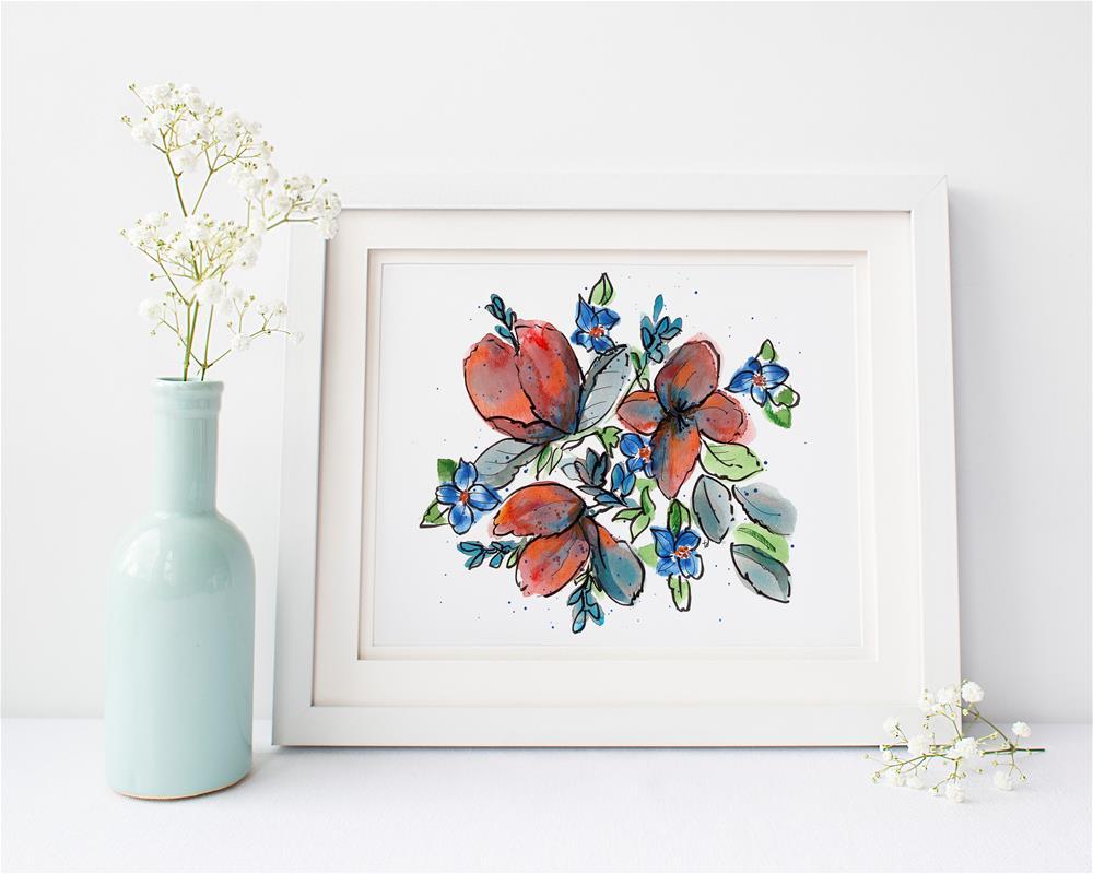 """Complimentary"" original fine art by Tonya Doughty"