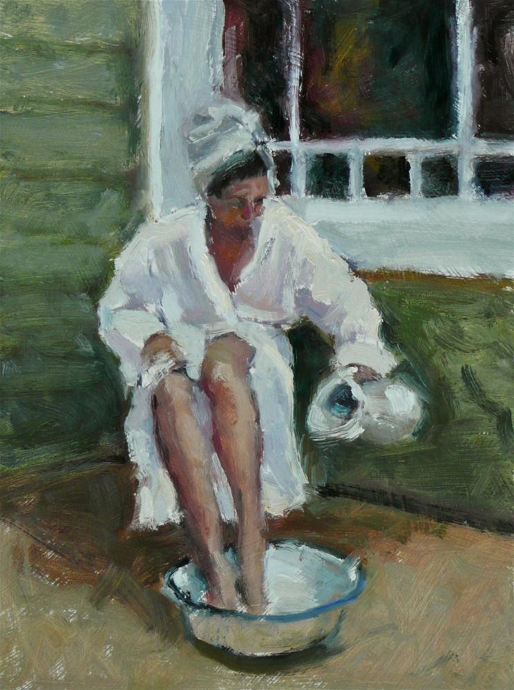 """The Bather"" original fine art by Dana Cooper"