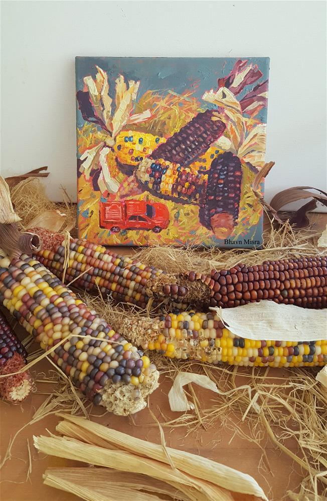 """Corn on the Cob"" original fine art by Bhavna Misra"