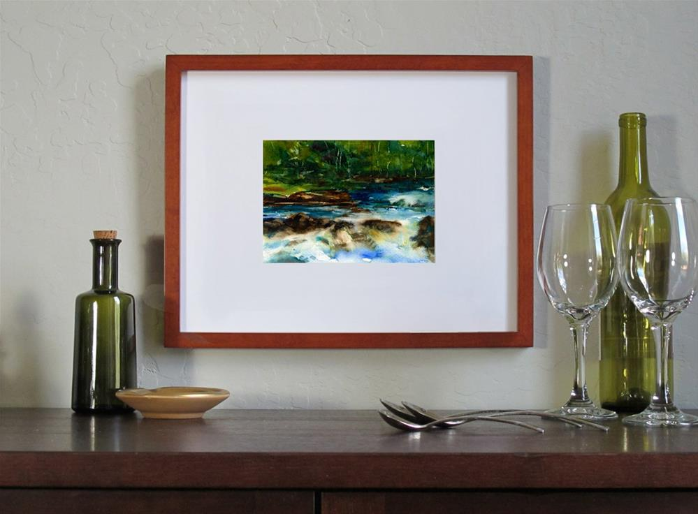 """The Green Woods"" original fine art by Linda Henry"