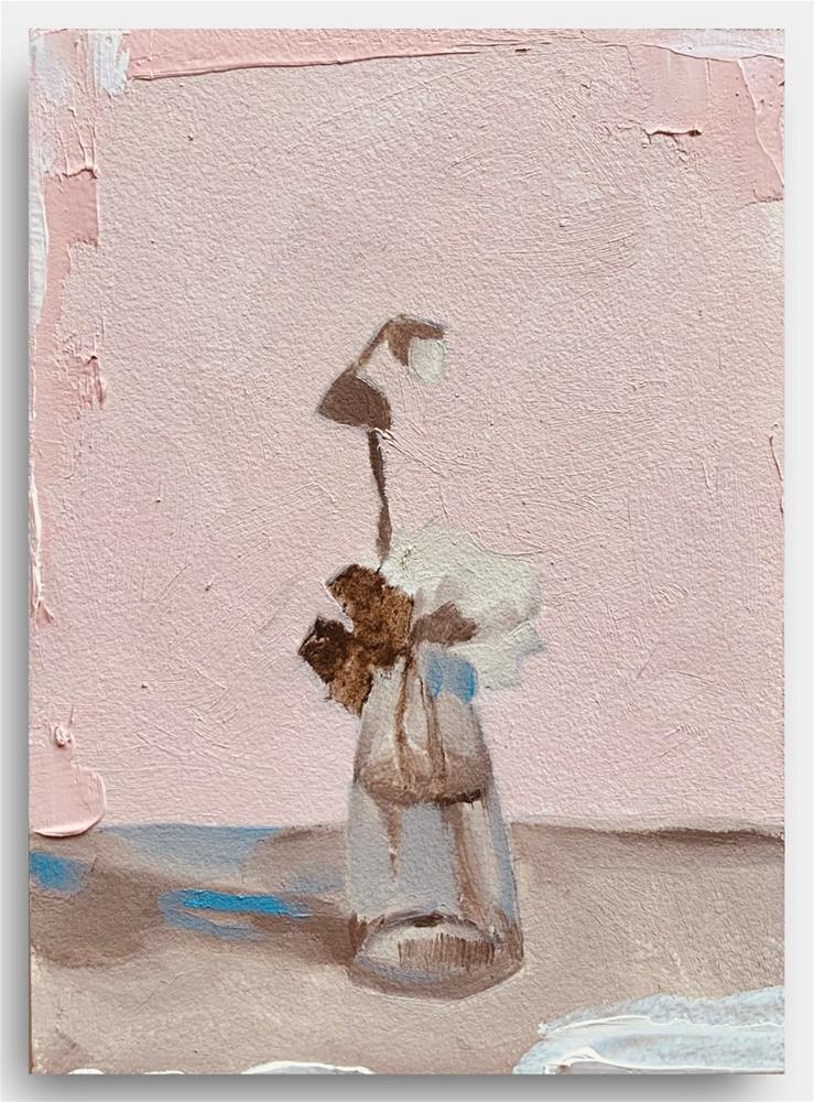 """868 The Blue it Casts"" original fine art by Jenny Doh"