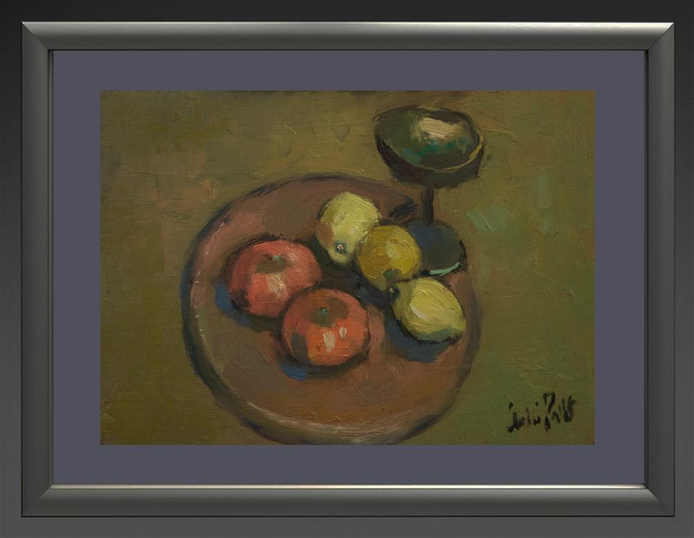 """""""Fruit with Silver Cup"""" original fine art by Andre Pallat"""