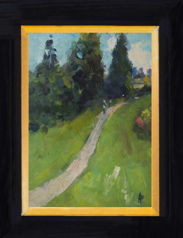 """Path at Scotney Castle"" original fine art by Andre Pallat"