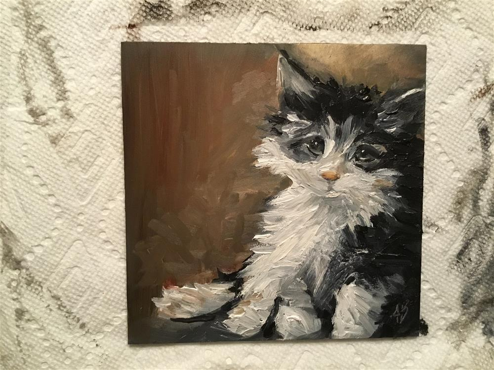 """""""Lost kitten"""" original fine art by Annette Balesteri"""