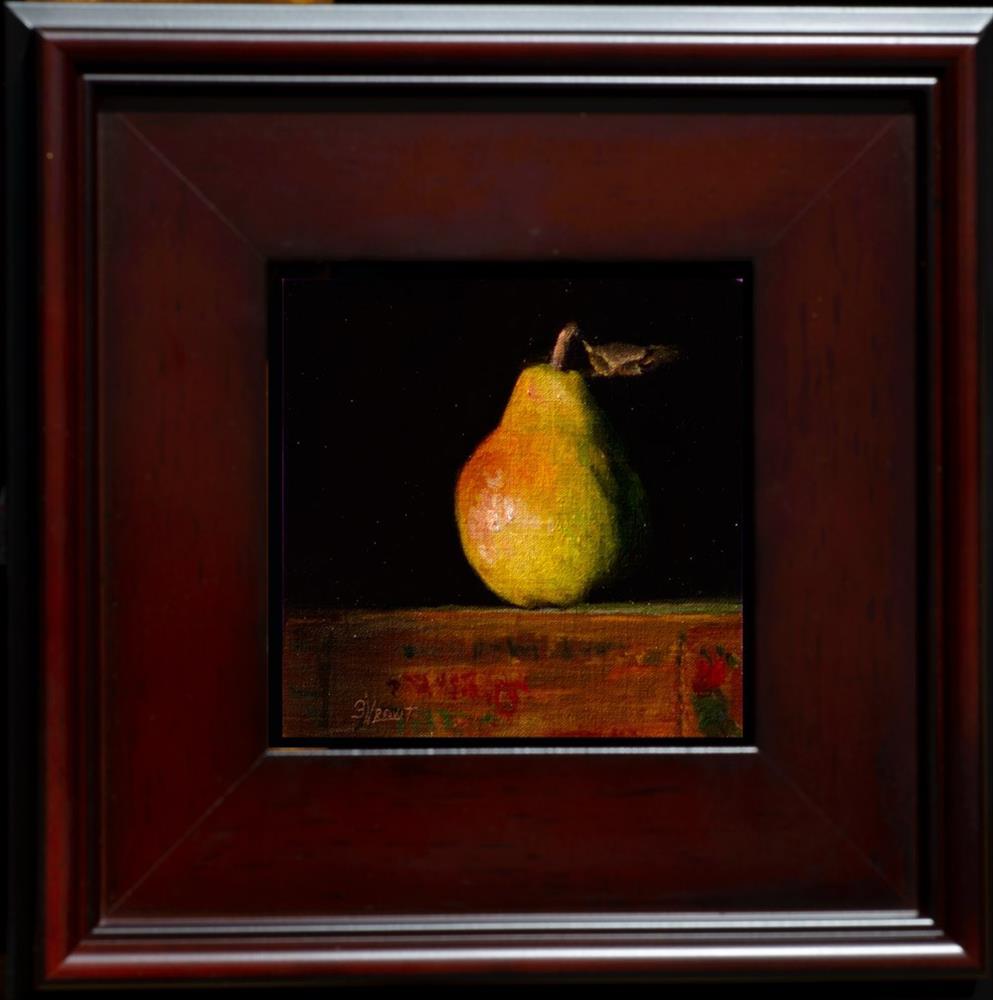 """Pear with Leaf"" original fine art by Garry Kravit"