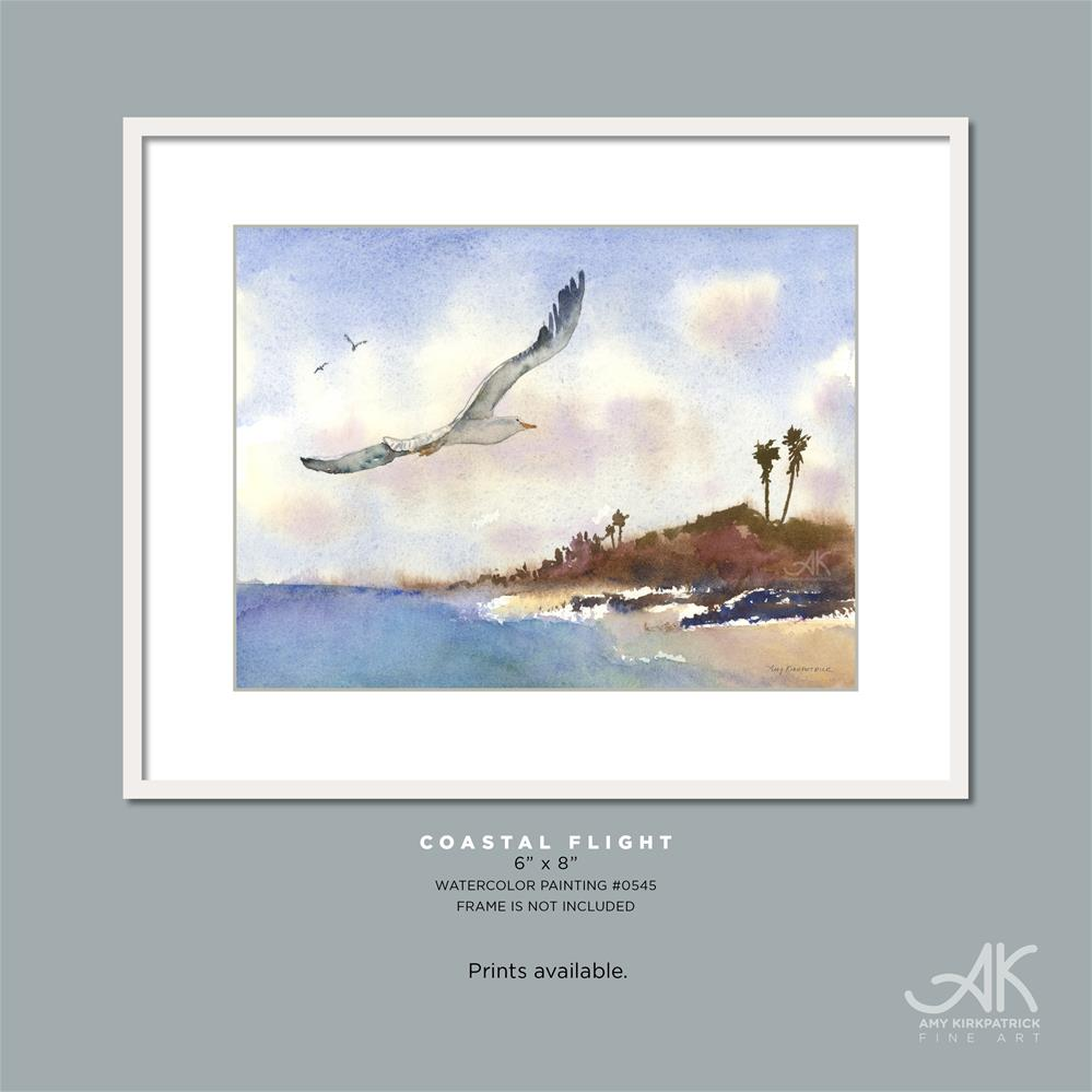 """COASTAL FLIGHT #0545"" original fine art by Amy Kirkpatrick"