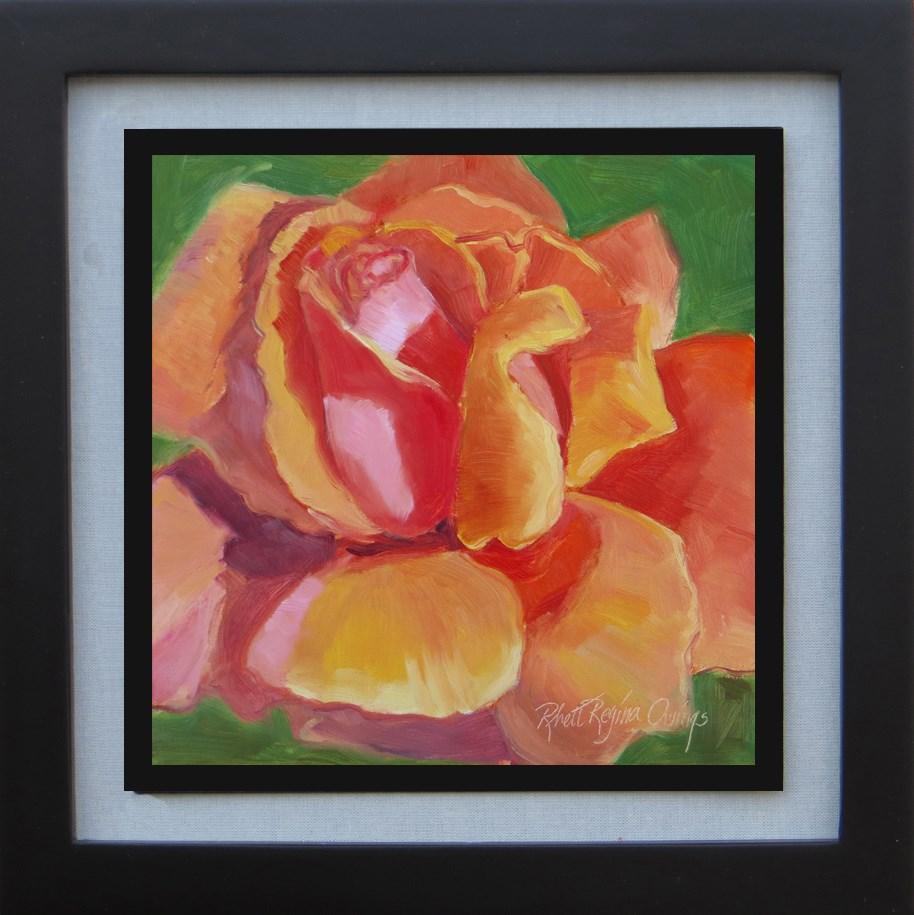 """Pretty in Orange"" original fine art by Rhett Regina Owings"