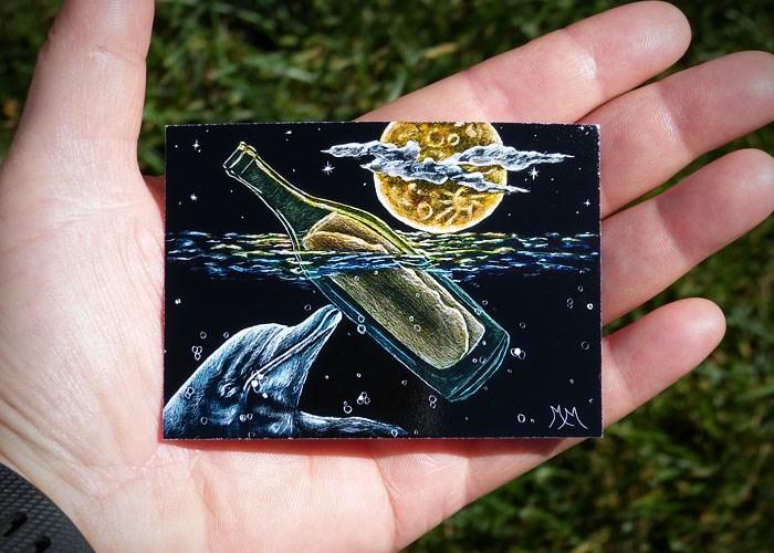 """Messages from the Sea"" original fine art by Monique Morin Matson"