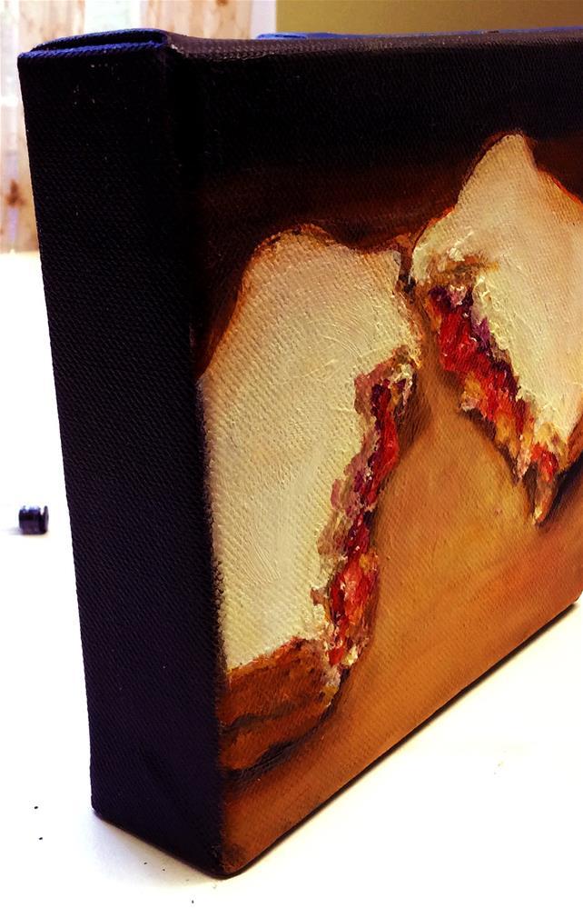 """TORN (PB&J #26 - Peanut Butter & Jelly Sandwich Painting)"" original fine art by Sunny Avocado"