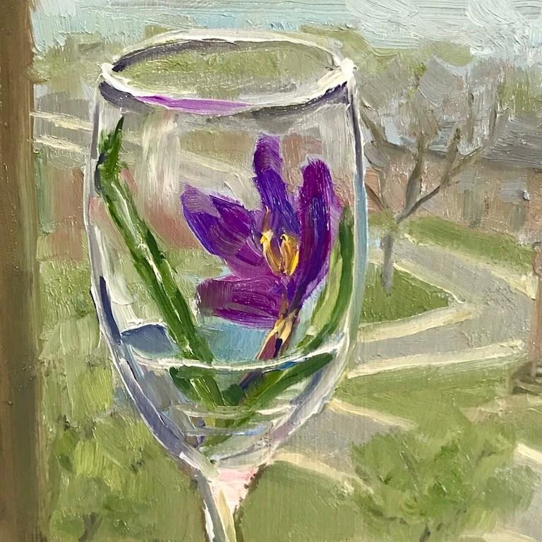 """window seat"" original fine art by Nora MacPhail"