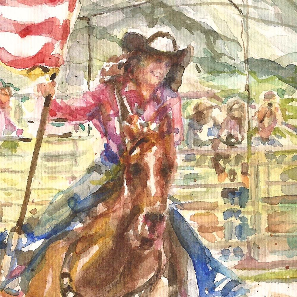 """Rodeo Princess, Study"" original fine art by Jean Krueger"