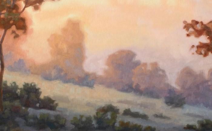 """""""Fading Summer Light"""" original fine art by Les Dorscheid"""