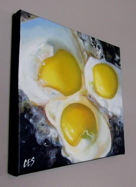 """""""Fried Eggs"""" original fine art by ~ces~ Christine E. S. Code"""