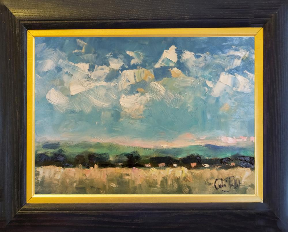 """White Clouds over the Downs"" original fine art by Andre Pallat"